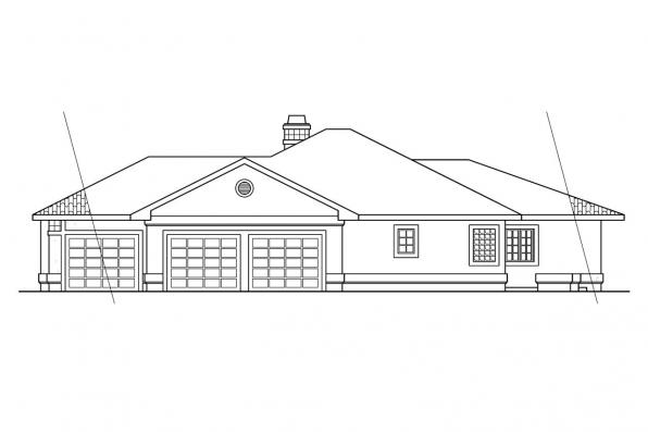 Spanish Style House Plan - Grenada 11-043 - Right Elevation
