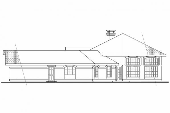 Spanish Style House Plan - Sierra 11-076 - Right Elevation