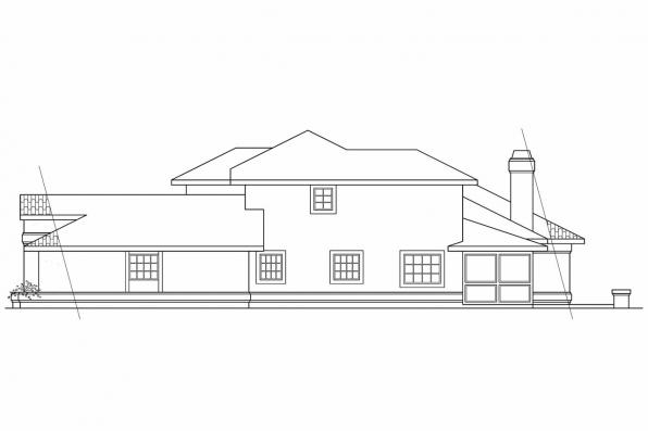 Spanish Style House Plan - St. Petersburg 11-071 - Right Elevation