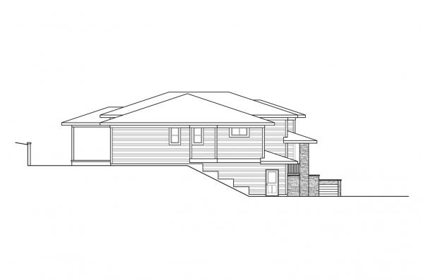 Split-Level House Plan - Alpenglow 31-115 - Left Elevation