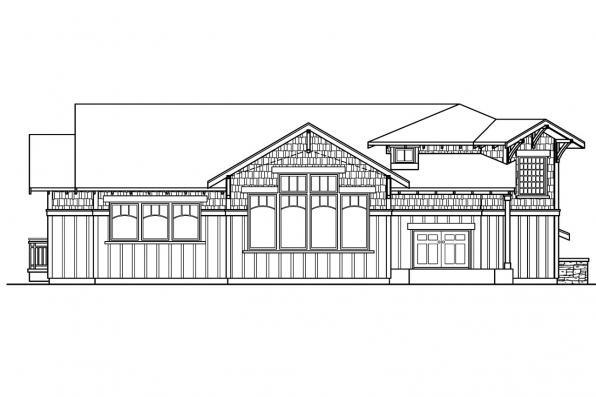 Split Level House Plan - Kelseyville 30-476 - Rear Elevation