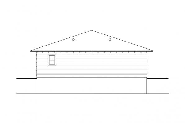 Traditional Garage Plan - Garage 20-309 - Rear Elevation