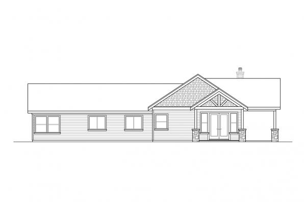 Country Home Design - Multnomah 31-121 - Rear Elevation