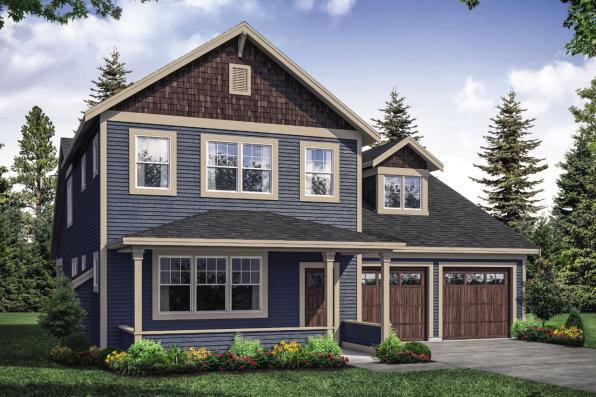 Traditional Home Design - Silverside 31-124 - Front Exterior