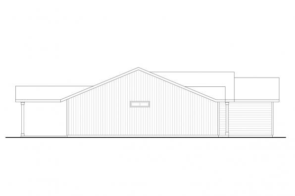 Traditional House Plan  - Wapato 31-210 - Left Elevation