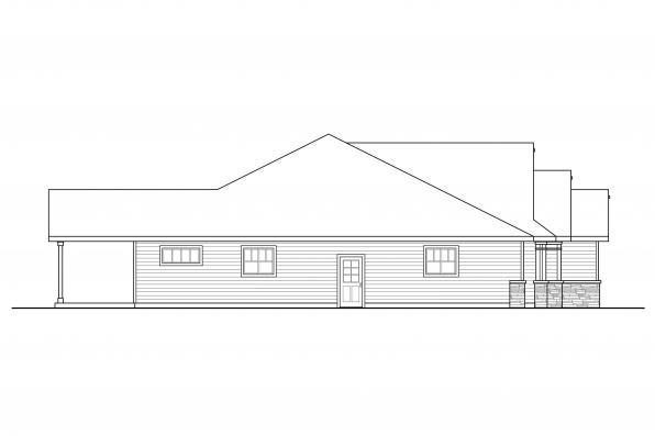 Traditional House Design Aster 31-161 Left Elevation