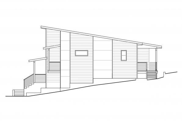 Contemporary House Design Sheffield 31-160 - Right Elevation
