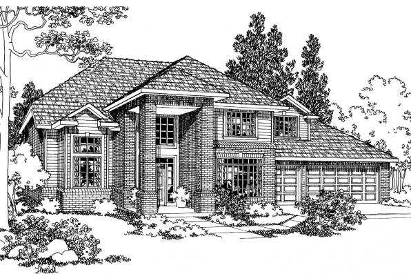 Traditional House Plan - Arolee 30-142 - Front Elevation
