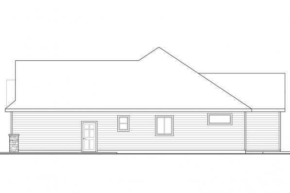 Traditional House Plan - Barrington 31-058 - Right Elevation