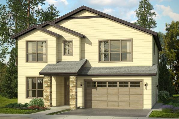 Traditiona House Plan - Bridgeview 31-015 - Front Elevation