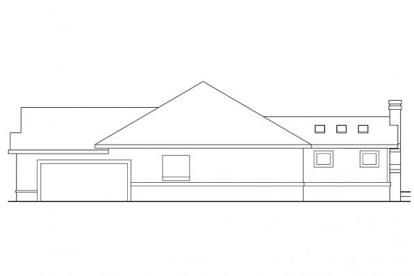 Traditional House Plan - Bridgewater 10-253 - Right Elevation