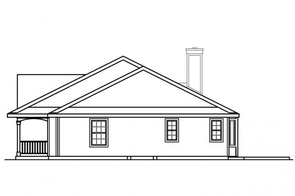 Traditional House Plan - Clarkdale 30-783 - Right Elevation