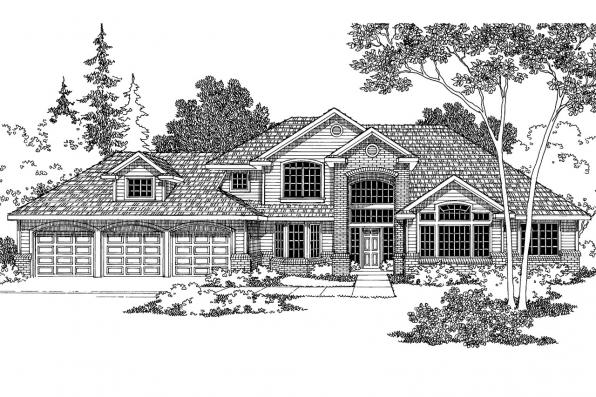 Traditional House Plan - Colfax 30-224 - Front Elevation