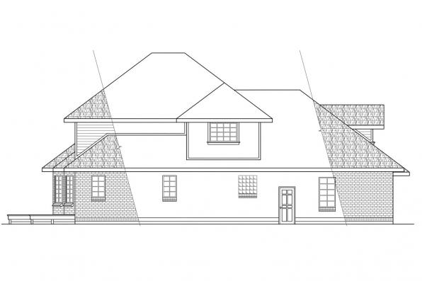 Traditional House Plan - Compton 10-019 - Left Elevation