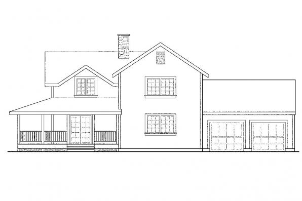 Traditional House Plan - Eldora 41-005 - Right Elevation