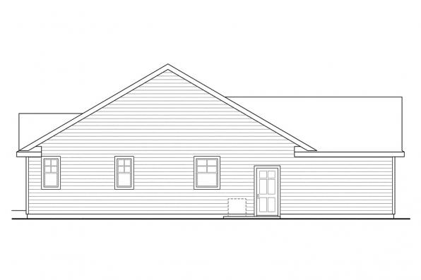 Traditional House Plan - Fern View 30-766 - Left Elevation