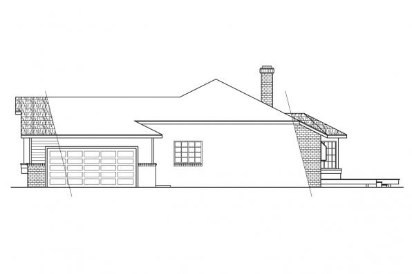 Traditional House Plan - Grayling 10-207 - Right Elevation