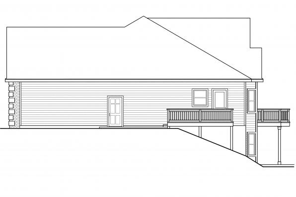 Traditional House Plan - Hampshire 30-799 - Right Elevation