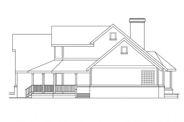 Traditional House Plan - Heartridge 10-250 - Right Elevation