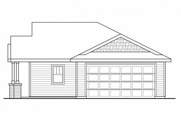 Traditional House Plan - Hopewell 30-793 - Right Elevation