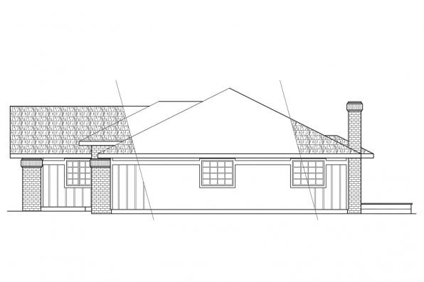 Traditional House Plan - Jefferson 10-056 - Right Elevation