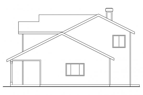 Traditional House Plan - Jennings 10-279 - Right Elevation