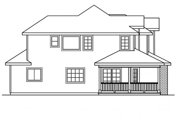 Traditional House Plan - Kaitlyn 30-338 - Left Elevation