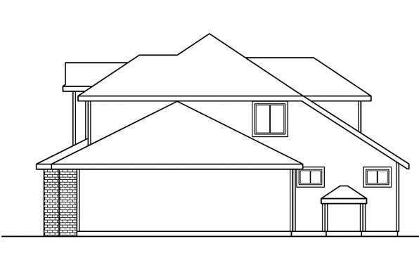 Traditional House Plan - Kaitlyn 30-338 - Right Elevation