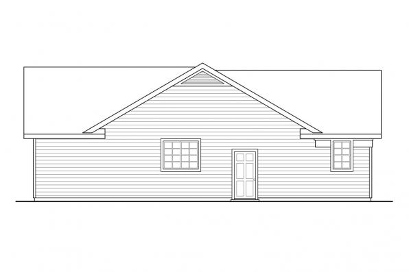 Traditional House Plan - Kenton 10-587 - Left Elevation