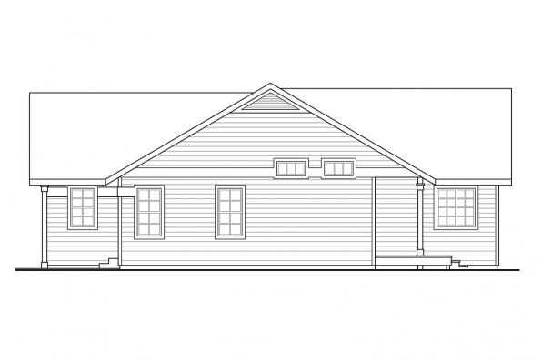 Traditional House Plan - Kenton 10-587 - Right Elevation