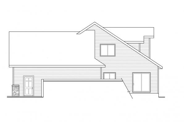 Traditional House Plan - Lakeside 10-551 - Right Elevation