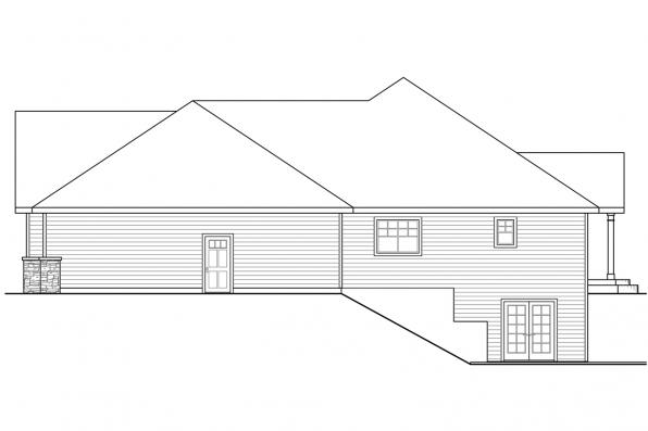 Traditional House Plan - Little Creek 30-878 - Right Elevation
