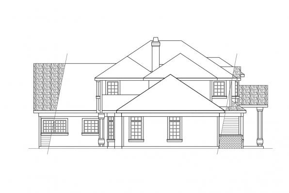 Traditional House Plan - Middleton 30-135 - Left Elevation