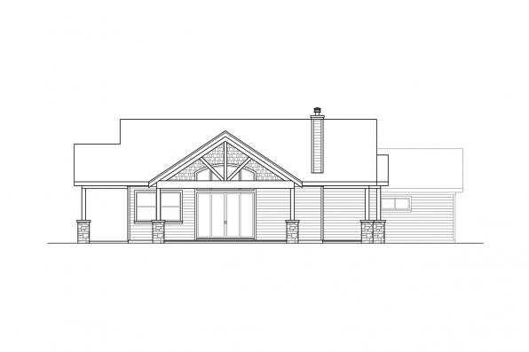Traditional House Plan - Multnomah 31-121 - Left Elevation