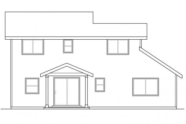 Traditional House Plan - Paisley 30-852 - Rear Elevation