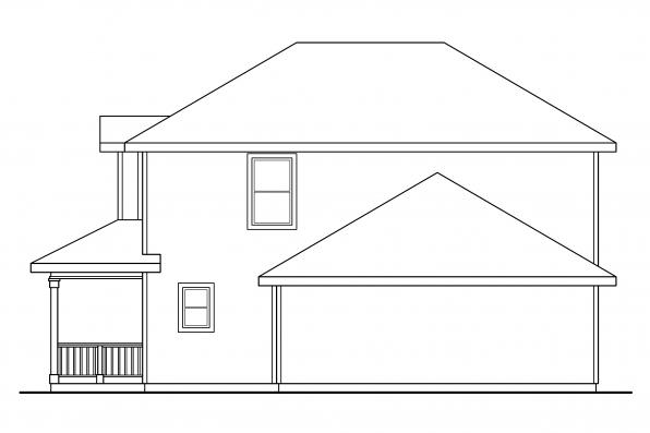 Traditional House Plan - Patterson 30-117 - Right Elevation