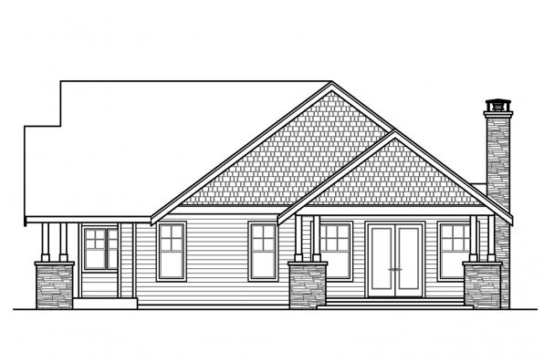 Traditional House Plan - Petaluma 31-011 - Left Elevation