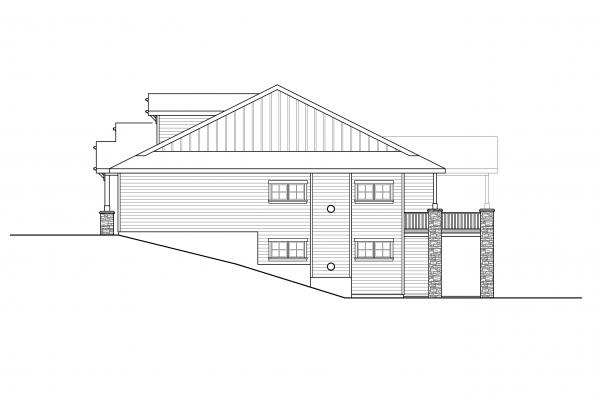 Home Plan with Basement - Pine Valley 31-159 - Right Elevation