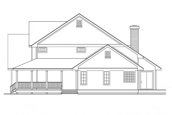 Traditional House Plan - Richland 10-256 - Right Elevation