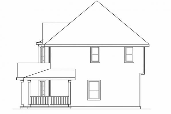 Traditional House Plan - Sedgewicke 30-094 - Right Elevation