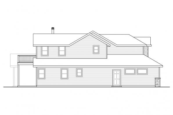 Traditional House Plan - Sprague 31-200 - Left Elevation