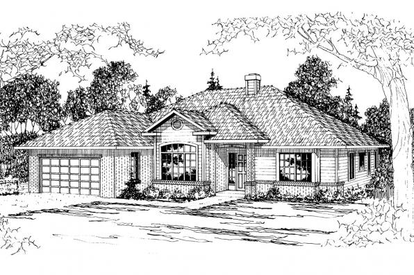 Traditional House Plan - Syracuse 30-063 - Front Elevation