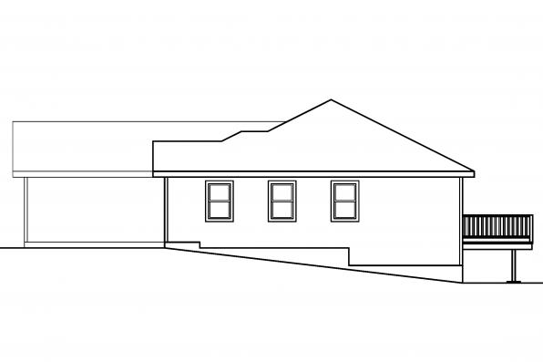 Traditional House Plan - Tyson 30-495 - Right Elevation