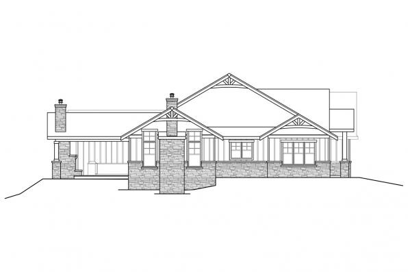 Traditional Home Plan - Wesson 31-158 - Left Elevation