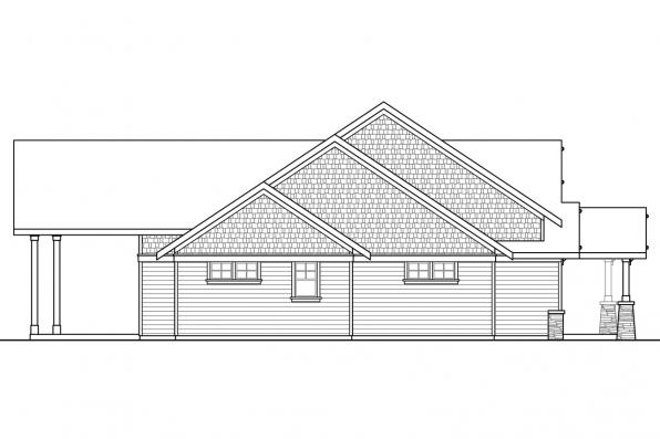 Traditional House Plan - Westheart 10-630 - Left Elevation