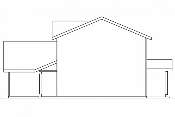 Traditional House Plan - Wethersfield 30-702 - Right Elevation