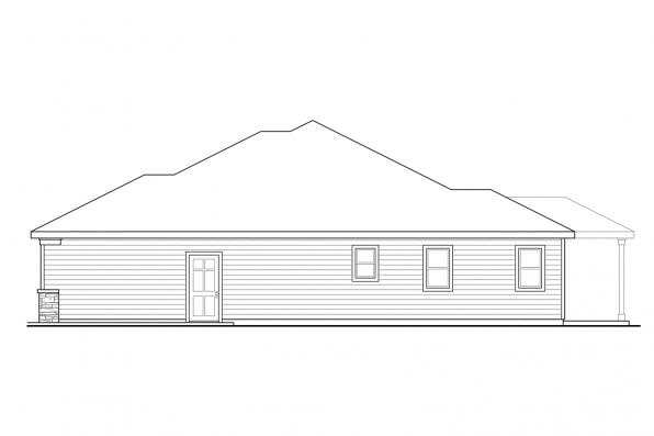 Traditional House Plan - Whittaker 30-845 - Right Elevation