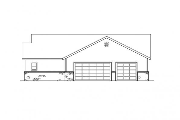 Traditional House Plan - Willston 30-165 - Right Elevation
