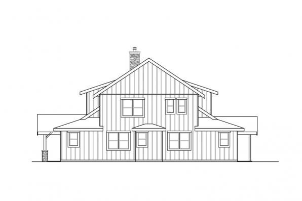 Traditional House Plan - Wind River 31-241 - Right Elevation