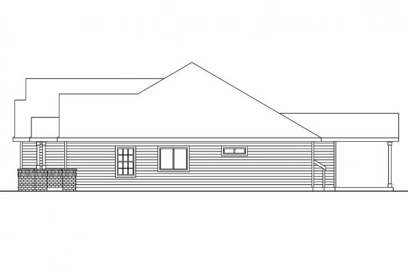 Traditional House Plan - Windsor 30-678 - Right Elevation
